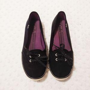 Keds Black Slip On Tennis Shoes Size 7.5